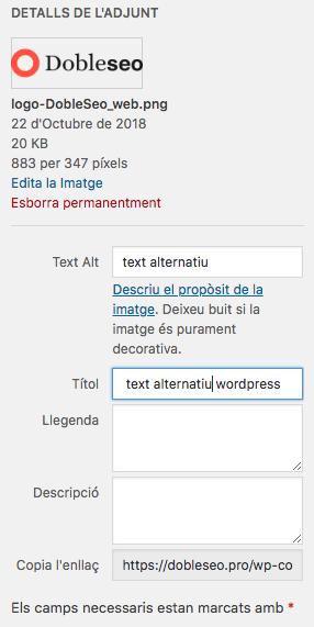 captura del text alternatiu
