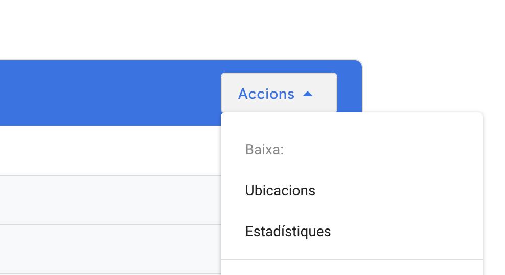 descarregar ubicacions google my business